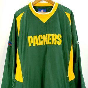 Reebok Green Bay Packers Windbreaker Pullover 2XL